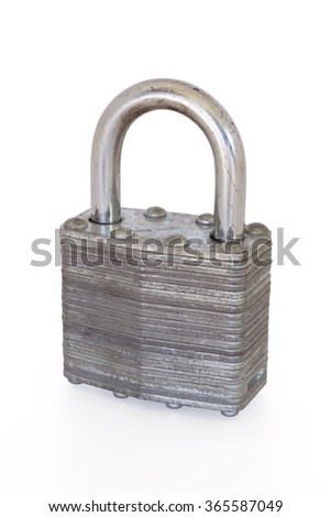 Padlock isolated on a white background with clipping path