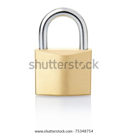 Padlock isolated on white background, clipping path included - stock photo