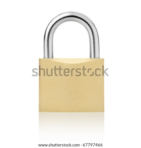 Padlock isolated on white, clipping path included