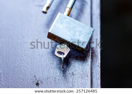 padlock key open old rusty - stock photo
