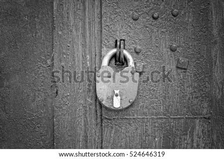 Padlock on the old grey metal door background & Old Locks Stock Images Royalty-Free Images \u0026 Vectors | Shutterstock Pezcame.Com