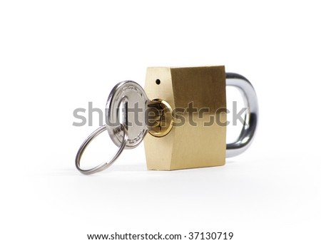 padlock studio isolated over white