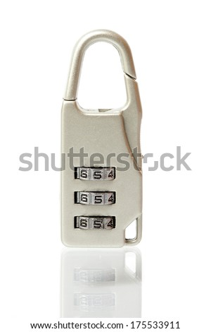 padlock with combination lock - stock photo