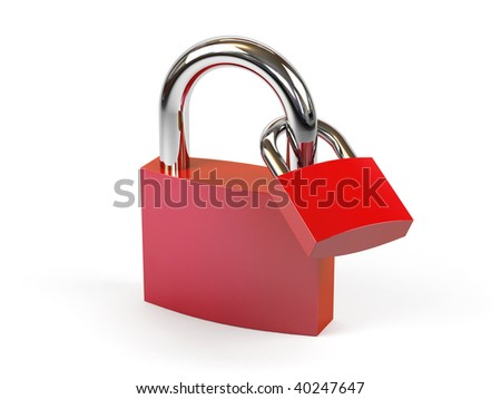 Padlocks on a white background.