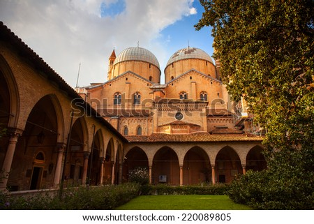 PADOVA, ITALY - AUGUST, 24: The Pontifical Basilica of Saint Anthony of Padua on August 24, 2014