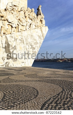 Padrao dos Descobrimentos, monument in Lisbon, Portugal - stock photo