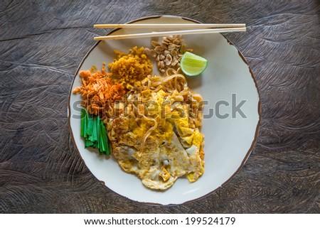 Padthai, Thailand traditional food - stock photo