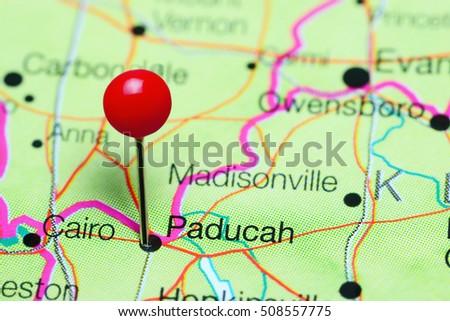 Paducah Stock Images RoyaltyFree Images Vectors Shutterstock - Paducah ky map