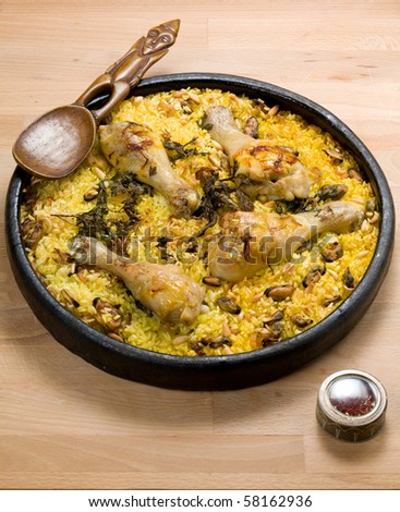 paella - stock photo