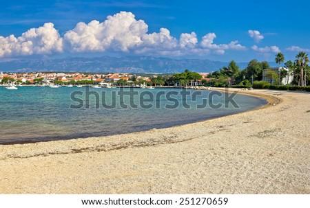 Pag island, Novalja village beach, Dalmatia, Croatia - stock photo