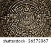 Pagan ornament a sun stone - stock photo