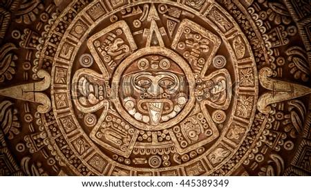 Pagan ornament of a tribe Maya texture - stock photo