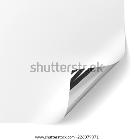 Page corner. 3d illustration isolated on white background  - stock photo