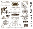 Page Embellishments - elements for advertising,stationary & web pages - stock photo