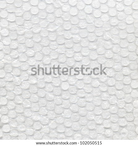 Page of clear bubbles on bubblewrap packaging material - stock photo