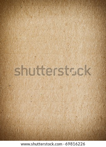 Page of old carton - stock photo