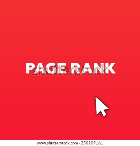 PAGE RANK - stock photo