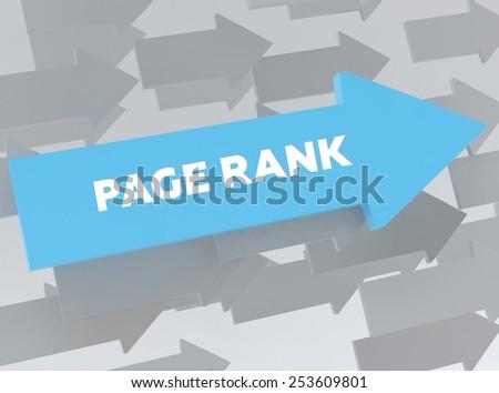 PAGE RANK - stock photo