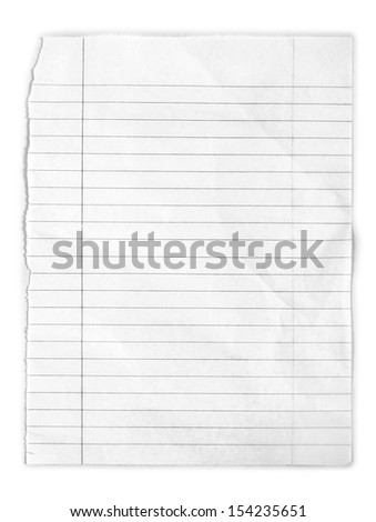page ripped off from the notebook.  - stock photo