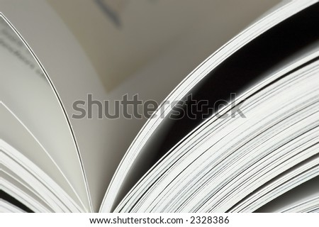 pages in a book with shallow dof - stock photo