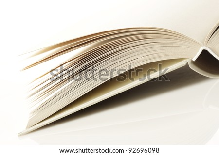 Pages of an open book, on white. More photo about book on my portfolio