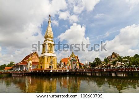 Pagoda and Sky - stock photo