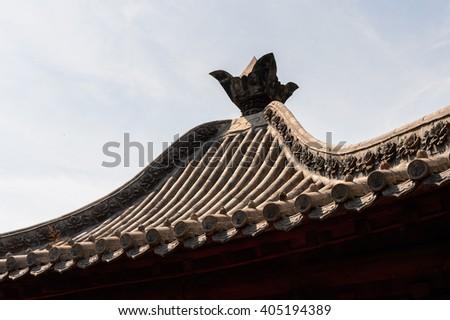 Pagoda at the Authentic Shaolin Monastery (Shaolin Temple), a Zen Buddhist temple. UNESCO World Heritage site - stock photo