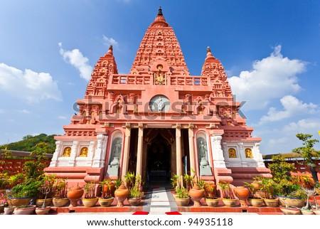 Pagoda in Wat Pasiriwattanavisut, Nakhon Sawan Province, Thailand - stock photo