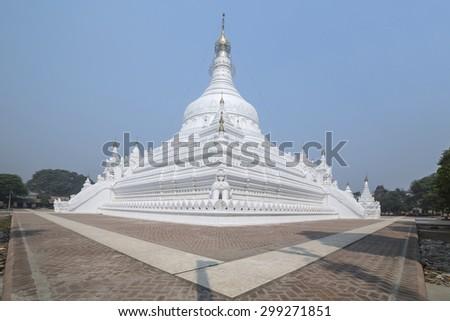 Pahtodawgyi Pagoda in Amarapura Myanmar, Burma - stock photo