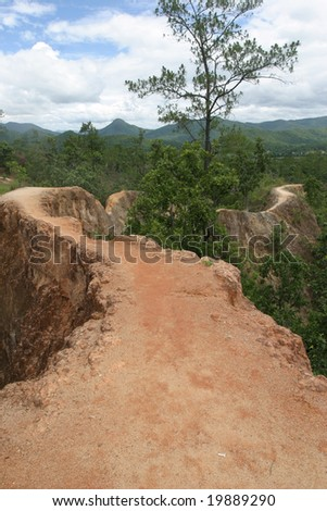 Pai Canyon Way Mountain - stock photo
