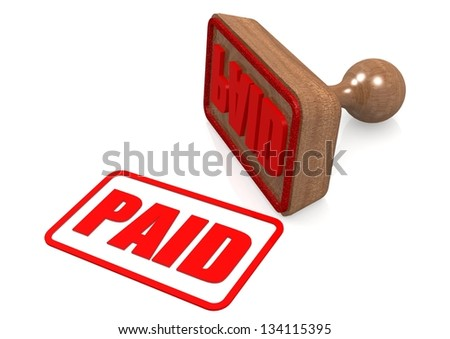 Paid - stock photo