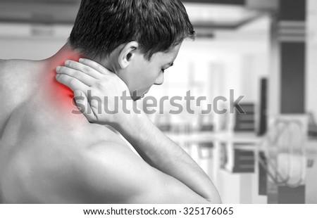 Pain. - stock photo