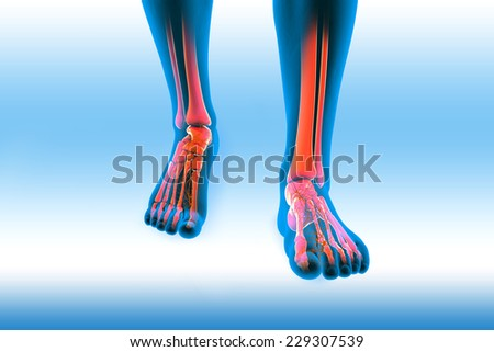 pain in the knee - stock photo