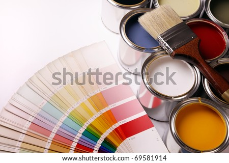 Paining concept! Paint cans - stock photo