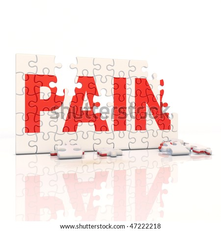painkiller puzzle - stock photo
