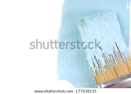 paint brush and paint color - stock photo