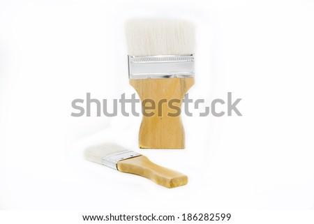 Paint brush isolated on a white background, - stock photo
