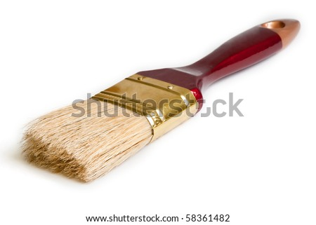 Paint brush isolated on the white background - stock photo