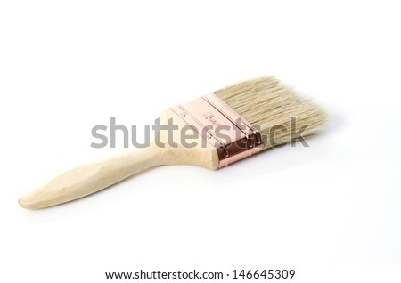 Paint brush isolated on white - stock photo