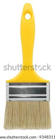 Paint brush isolated on white. - stock photo