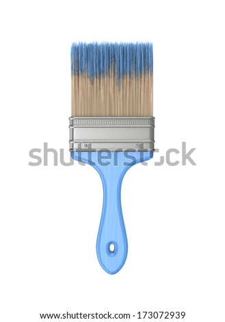 Paint brush.Isolated on white background.3d rendered. - stock photo