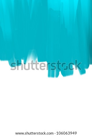 Paint brush strokes on white background - stock photo