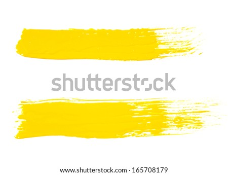 paint brush texture isolated on white . photo - stock photo