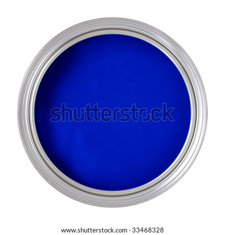 Paint Can isolated on white - stock photo