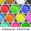 Paint Cans. Illustration of paint cans - stock photo