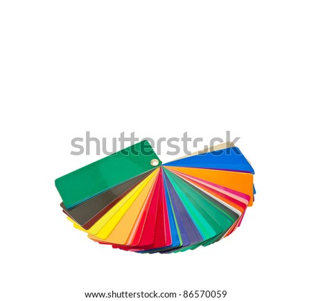 Sample Metal Ral Color Chart Stock Photo   Shutterstock