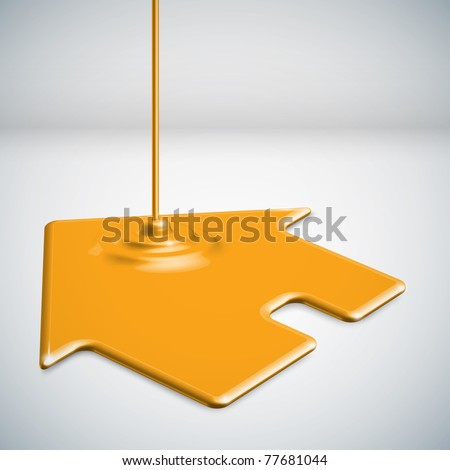 Paint Dripping House - stock photo