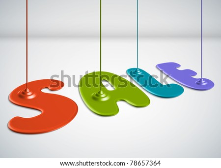 Paint Dripping - Sale - stock photo