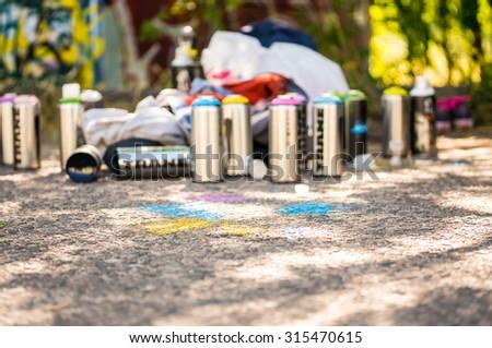 paint graffiti spray - stock photo