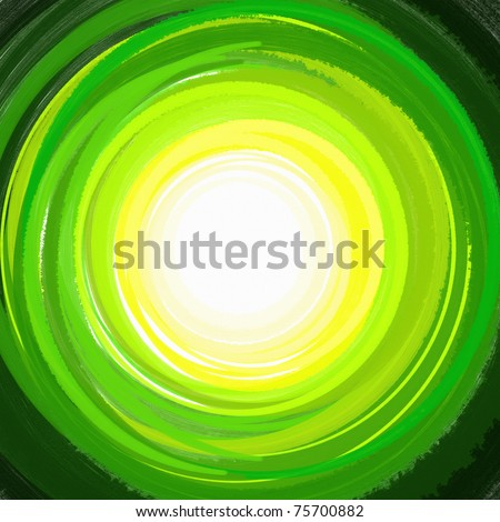 paint Green Circle Arcs background. - stock photo